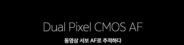 Dual Pixel CMOS AF 동영상 서보 AF로 추적하다
